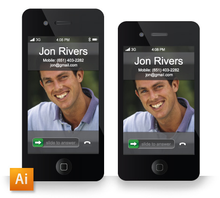 IPhone Caller Id Screen Business Card Template Download